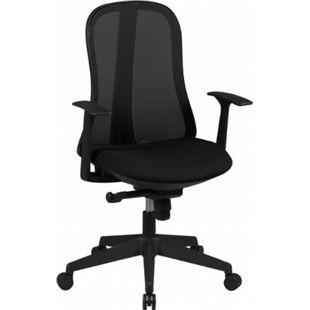 AMSTYLE Bürostuhl STYLE Stoffbezug Schwarz Schreibtischstuhl Design Chefsessel Drehstuhl Synchronmechanik - Bild 1