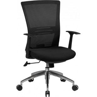 AMSTYLE Bürostuhl BASELINE Schreibtischstuhl Armlehne schwarz Chefsessel 120kg Synchronmechanik - Bild 1