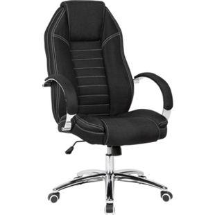 AMSTYLE Drehstuhl Stoff Schreibtischstuhl bis 120 kg Chefsessel Höhenverstellbar Bürosessel Jeansoptik - Bild 1