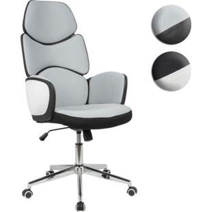 AMSTYLE Drehstuhl Modern Stoff Hellgrau Büro Schreibtischstuhl 120 kg Bürosessel Arbeitsstuhl gepolstert - Bild 1