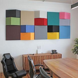AMSTYLE Akustik-Wandpaneel Schalldämmung | Schallschutz für die Wand | Akustikpaneel Schalldämpfer Absorber - Bild 1