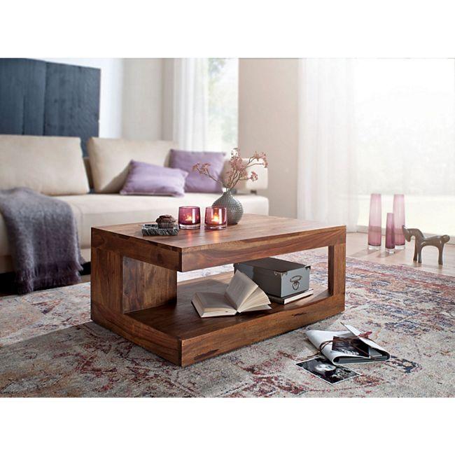 wohnling couchtisch mumbai sheesham massiv holz 90 x 60 x 40 cm wohnzimmer tisch design dunkel. Black Bedroom Furniture Sets. Home Design Ideas