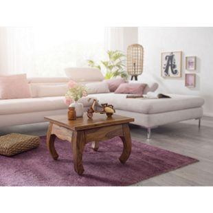 Wohnling Couchtisch OPIUM Massiv Holz Sheesham 60 cm breit Wohnzimmer Tisch Landhausstil Beistelltisch - Bild 1