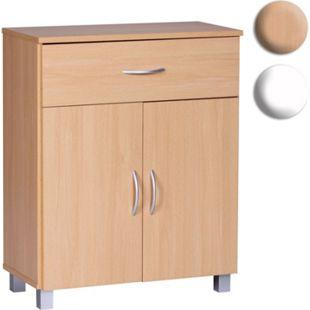 Wohnling Sideboard 60x75x30cm Kommode mit Schublade und Türen Moderne Anrichte Allzweckschrank Schmal - Bild 1