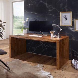 Wohnling Schreibtisch BOHA Sheesham Massivholz Computertisch in 5 verschiedenen Größen Echtholz Bürotisch - Bild 1