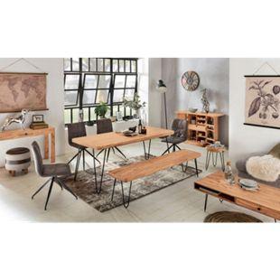 Wohnling Esstisch BAGLI in 4 Größen und Farben Esszimmertisch Massivholz Holztisch mit Metallbeinen - Bild 1