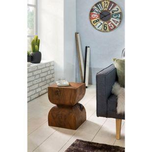 Wohnling Beistelltisch WL1.562 Sheesham Vollholz 30x45x30cm Rustikaler Tisch Holztisch Anstelltisch Echtholz - Bild 1