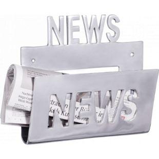 Wohnling Deko Prospekthalter NEWS für die Wand Zeitungshalter News Zeitschriftenhalter aus Aluminium - Bild 1