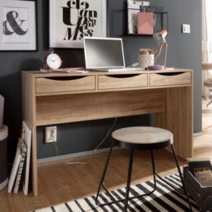 Wohnling Schreibtisch SAMO 120 cm Design Bürotisch Sonoma Eiche modern Jugendschreibtisch 3 Schubladen & Stauraum platzsparend - Bild 1