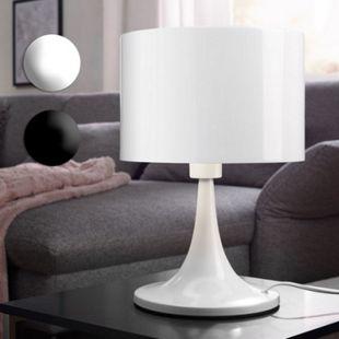 Wohnling Tischleuchte TILA Metallschirm Lampe Nachttischlampe hochglanz Tischlampe Ø 25cm Leselampe IP20 - Bild 1