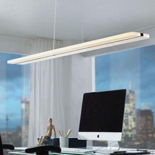 Wohnling LED Deckenleuchte STRIPE schwarz Metall EEK A+ Esszimmer Deckenlampe 36 Watt 100 x 104 x 12 cm Hängelampe 3060 Lumen warmweiß Pendellampe IP20 - Bild 1