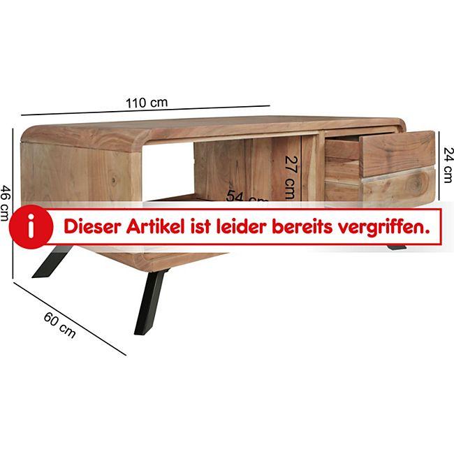 Wohnling Couchtisch BOHA aus Massivholz Akazie | Wohnzimmertisch 110 ...
