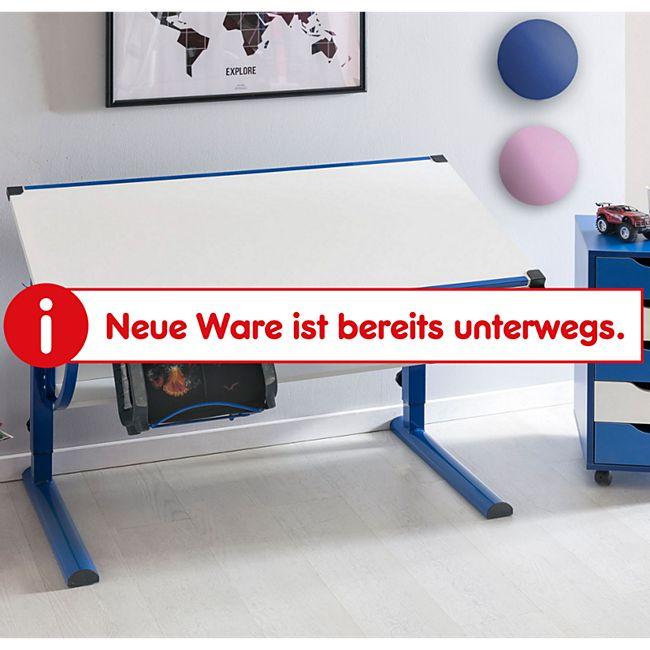Wohnling Kinderschreibtisch MORITZ 120x60 cm blau/weiß Schülerschreibtisch Schreibtisch höhenverstellbar - Bild 1