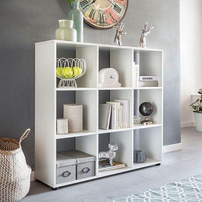 Wohnling Bücherregal ZARA in 2 verschiedenen Größen Standregal freistehend Ordnerregal Raumteiler Würfelregal - Bild 1