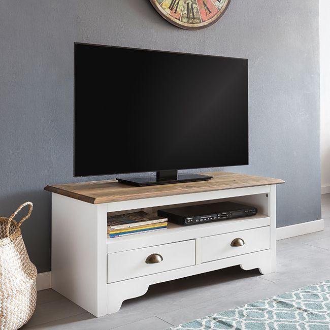 Wohnling HiFi Lowboard MAYLA Kiefer Massivholz Kommode 100 x 45 x 45 cm TV Board Unterschrank Fernsehtisch - Bild 1
