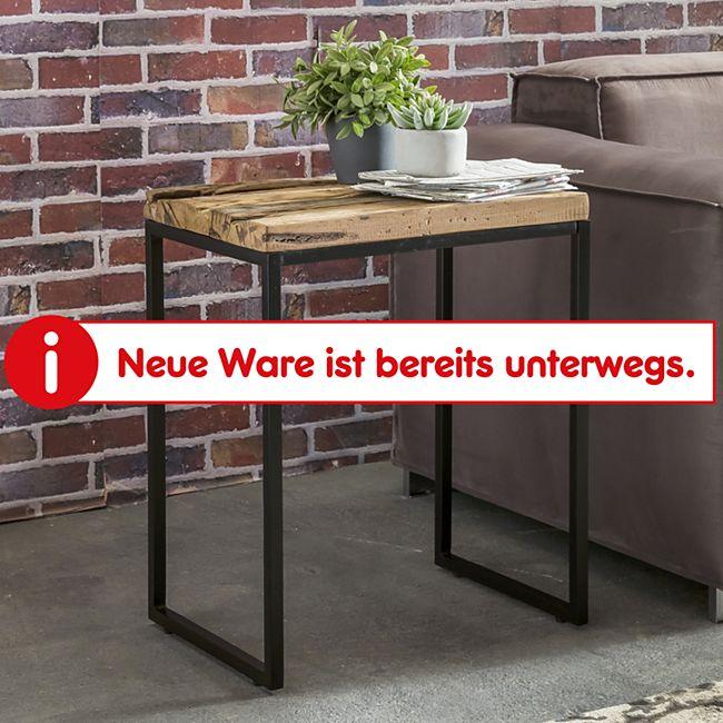 Wohnling Beistelltisch BELLARY 51x38x65 cm Massivholz Tisch mit Metallgestell Couchtisch Wohnzimmertisch - Bild 1