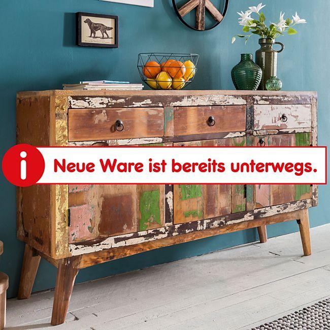 Wohnling Sideboard VATA Massivholz 150x91x40cm Kommode Shabby Chic Dielenschrank Schrank Anrichte Flurschrank - Bild 1