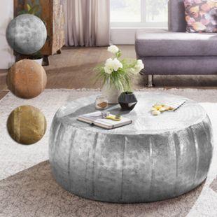 Wohnling Couchtisch JAMAL 72x31x72 cm Aluminium Beistelltisch Orient Sofatisch Wohnzimmertisch Loungetisch - Bild 1