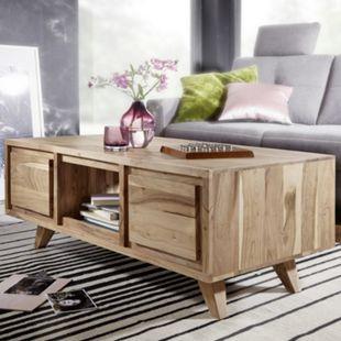 Wohnling Couchtisch TICO 118 x 46 x 60 cm Akazie Landhaus Wohnzimmertisch Sofatisch Massivholz Holztisch - Bild 1