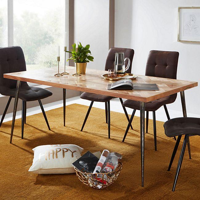 Wohnling Esszimmertisch LODI in 4 verschiedenen Größen Massivholz Akazie Esstisch Küchentisch Speisetisch - Bild 1