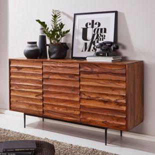 Wohnling Sideboard WL5.635 Sheesham Massivholz 150x81x41 cm Kommode Anrichte  Kommodenschrank Standschrank - Bild 1
