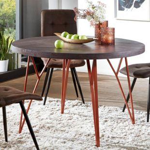 Wohnling Esszimmertisch WL5.646 118x79x118 cm Massivholz / Metall Tisch Esstisch Akazie Küchentisch Holztisch - Bild 1