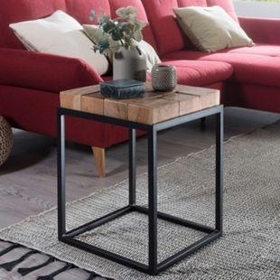 Wohnling Beistelltisch ANDUR 39x56x39cm Akazie Couchtisch Massivholz Wohnzimmertisch Sofatisch Abstelltisch - Bild 1