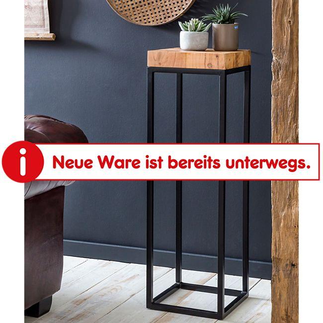 Wohnling Beistelltisch 30 x 97 x 30 cm WL5.654 Akazie Metall Anstelltisch Tischchen Holztisch Abstelltisch - Bild 1