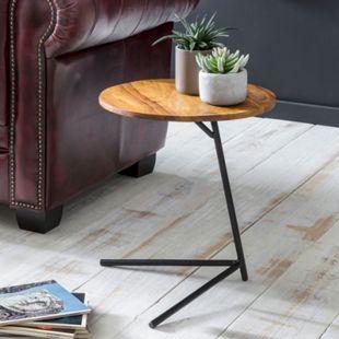 Wohnling Beistelltisch WL5.657 40x46x40cm Sheesham Holz Couchtisch Tischchen Holztisch Sofatisch Anstelltisch - Bild 1