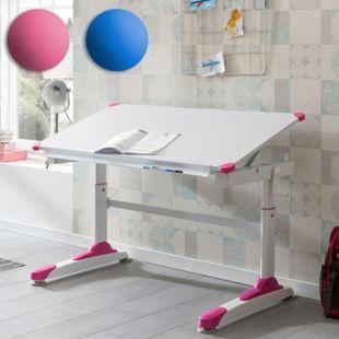 Wohnling Kinderschreibtisch MDF 119x67 cm Maltisch Neigbar Höhenverstellbarer Schreibtisch Kindertisch Metall - Bild 1