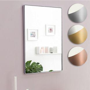 Wohnling Wandspiegel 50x80x4 cm Spiegel Rahmen Hängespiegel Garderobenspiegel Flur Aufhängen Dekospiegel Wand - Bild 1