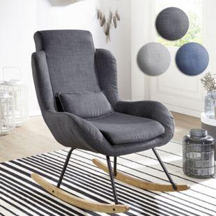 Wohnling Schaukelstuhl ROCKY Relaxsessel Polster Sessel Relaxstuhl Schaukelsessel Moderner Schwingstuhl - Bild 1