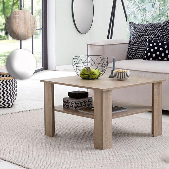 Wohnling Couchtisch WL5.830 Sonoma Eiche 70x45x70 cm Design Holztisch mit  Ablage | Wohnzimmertisch Coffee Table | Sofatisch Loungetisch Holz | ...