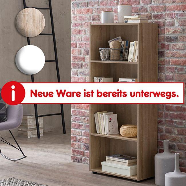 Wohnling Bücherregal in 4 verschiedenen Größen Sonoma oder Weiß Nischenregal Schuhregal Ordnerregal Mehrzweck - Bild 1