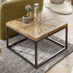 Wohnling Couchtisch Mango Massivholz 55x40x55 cm Tisch Wohnzimmertisch Quadratisch Massiver Sofatisch - Bild 1