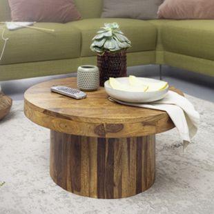 Wohnling Couchtisch 60x30x60 cm Sheesham Massivholz Sofatisch Wohnzimmertisch Stubentisch Tisch Wohnzimmer - Bild 1
