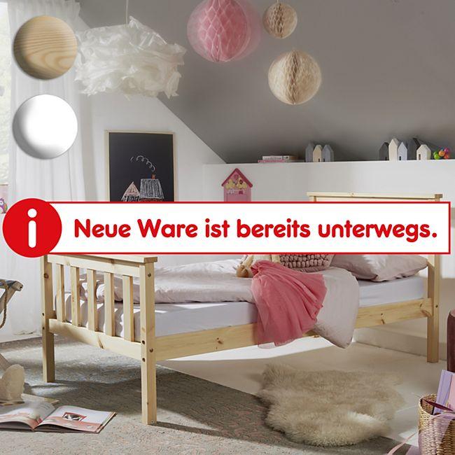 Wohnling Kinderbett aus Kiefer Holz mit Lattenrost Schlafbett Bett für Kinder Einzelbett Bettgestell - Bild 1