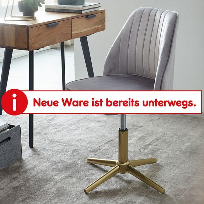Wohnling Drehstuhl Samt Drehbar Küchenstuhl ohne Rollen Gepolsterter Esszimmerstuhl mit Lehne Modern - Bild 1