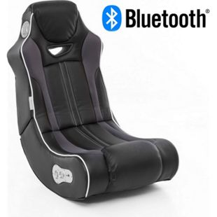 Wohnling Soundchair CHEATER in Schwarz mit Bluetooth Musiksessel mit Lautsprechern Multimediasessel Gaming Sessel - Bild 1