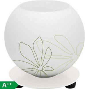 Pop Tischleuchte weiß/grün florales Muster - Bild 1