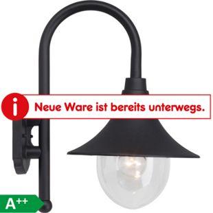 Berna Außenwandleuchte schwarz - Bild 1