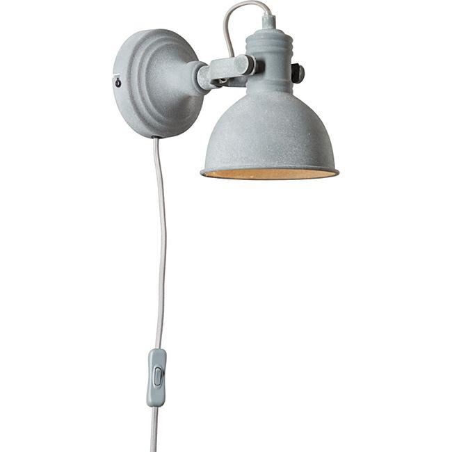 katie wandspot mit zuleitung und schalter grau beton online kaufen netto. Black Bedroom Furniture Sets. Home Design Ideas