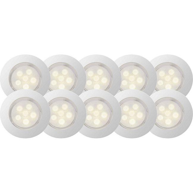 Cosa 45 LED Einbauleuchtenset 10 Stück edelstahl/warmweiß - Bild 1
