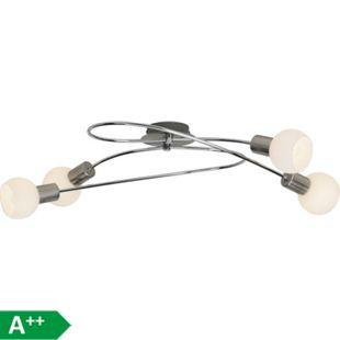 Philo LED Deckenleuchte 4flg eisen/weiß - Bild 1