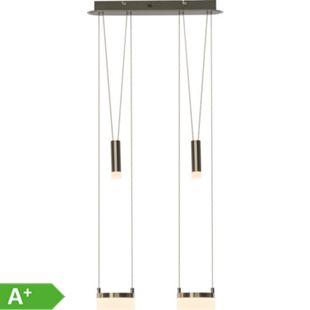 Better LED Pendelleuchte 2flg eisen/weiß - Bild 1