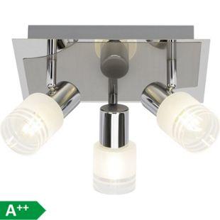 Lea LED Spotrondell 3flg eisen/chrom/weiß - Bild 1