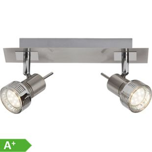 Kassandra LED Spotbalken 2flg eisen/chrom - Bild 1