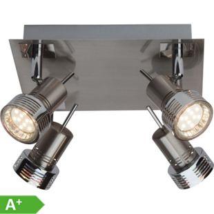 Kassandra LED Spotplatte 4flg eisen/chrom - Bild 1