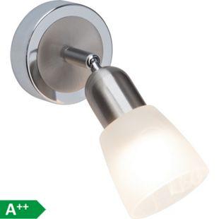 Bethany LED Wandspot eisen/chrom/weiß-alabaster - Bild 1