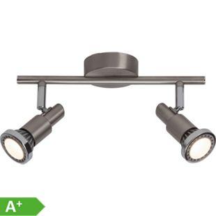 Ryan LED Spotrohr 2flg eisen/chrom - Bild 1
